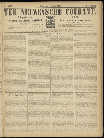 Ter Neuzensche Courant. Algemeen Nieuws- en Advertentieblad voor Zeeuwsch-Vlaanderen / Neuzensche Courant ... (idem) / (Algemeen) nieuws en advertentieblad voor Zeeuwsch-Vlaanderen 1895-07-18
