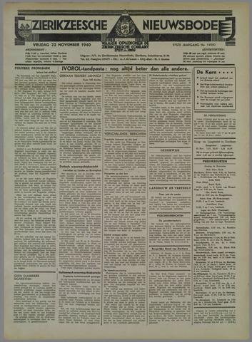 Zierikzeesche Nieuwsbode 1940-11-22