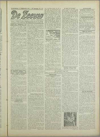 De Zeeuw. Christelijk-historisch nieuwsblad voor Zeeland 1943-02-17