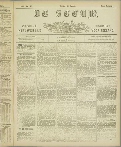 De Zeeuw. Christelijk-historisch nieuwsblad voor Zeeland 1896-01-18