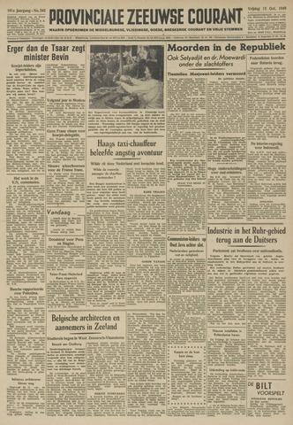 Provinciale Zeeuwse Courant 1948-10-15