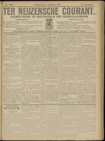 Ter Neuzensche Courant. Algemeen Nieuws- en Advertentieblad voor Zeeuwsch-Vlaanderen / Neuzensche Courant ... (idem) / (Algemeen) nieuws en advertentieblad voor Zeeuwsch-Vlaanderen 1917-08-02