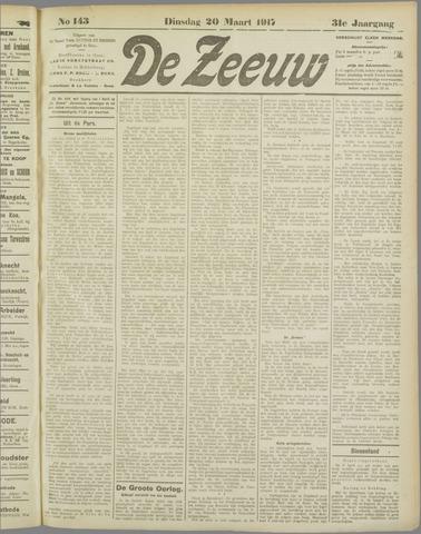 De Zeeuw. Christelijk-historisch nieuwsblad voor Zeeland 1917-03-20