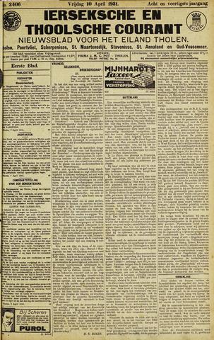 Ierseksche en Thoolsche Courant 1931-04-10