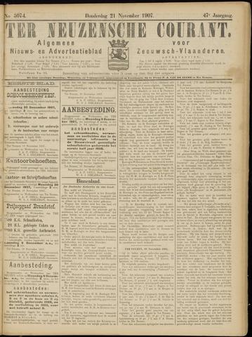 Ter Neuzensche Courant. Algemeen Nieuws- en Advertentieblad voor Zeeuwsch-Vlaanderen / Neuzensche Courant ... (idem) / (Algemeen) nieuws en advertentieblad voor Zeeuwsch-Vlaanderen 1907-11-21