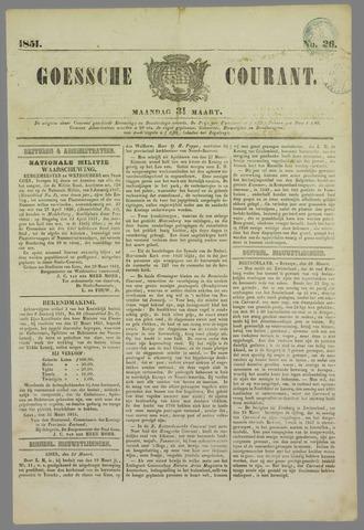 Goessche Courant 1851-03-31