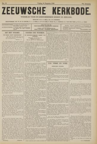 Zeeuwsche kerkbode, weekblad gewijd aan de belangen der gereformeerde kerken/ Zeeuwsch kerkblad 1940-08-16