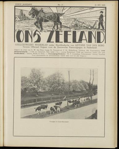 Ons Zeeland / Zeeuwsche editie 1929-05-25