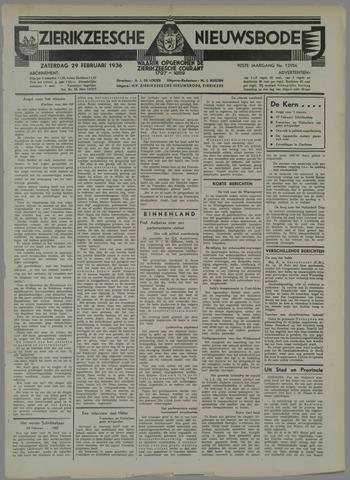 Zierikzeesche Nieuwsbode 1936-02-29