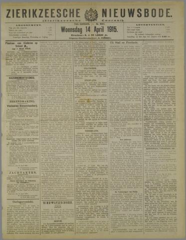 Zierikzeesche Nieuwsbode 1915-04-14