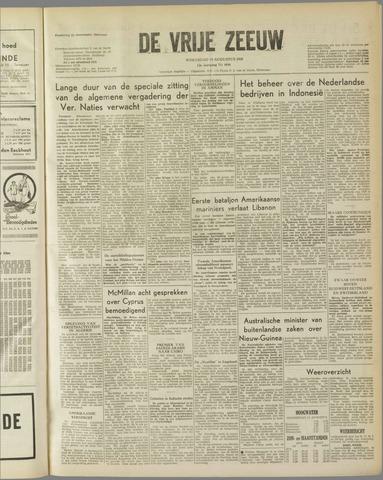 de Vrije Zeeuw 1958-08-13
