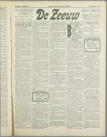 De Zeeuw. Christelijk-historisch nieuwsblad voor Zeeland 1934-01-20