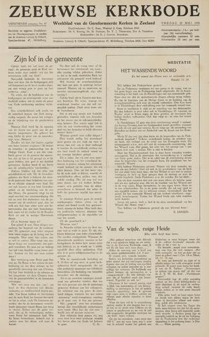 Zeeuwsche kerkbode, weekblad gewijd aan de belangen der gereformeerde kerken/ Zeeuwsch kerkblad 1959-05-22