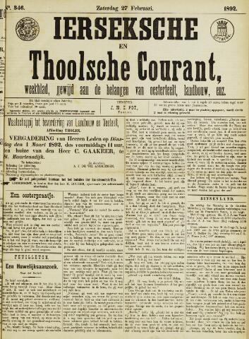 Ierseksche en Thoolsche Courant 1892-02-27