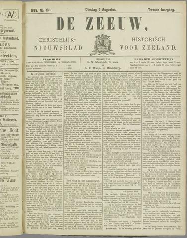 De Zeeuw. Christelijk-historisch nieuwsblad voor Zeeland 1888-08-07