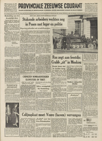 Provinciale Zeeuwse Courant 1956-06-30