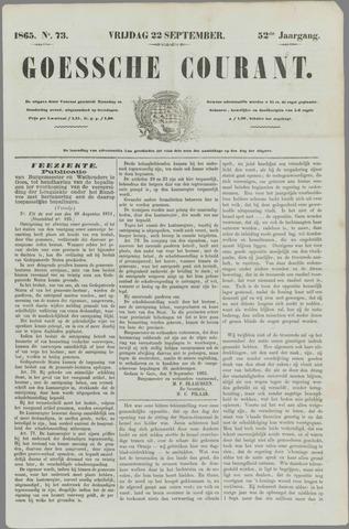 Goessche Courant 1865-09-22