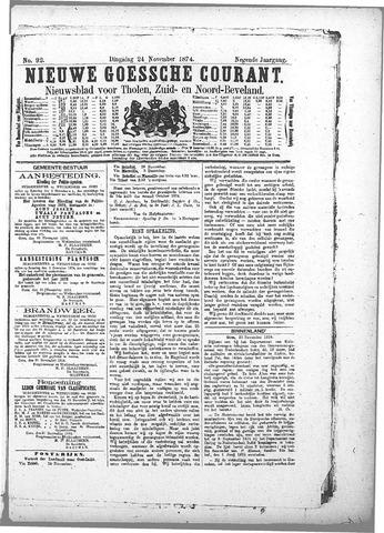 Nieuwe Goessche Courant 1874-11-24