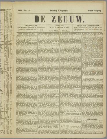 De Zeeuw. Christelijk-historisch nieuwsblad voor Zeeland 1890-08-09