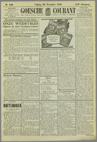Goessche Courant 1927-11-25