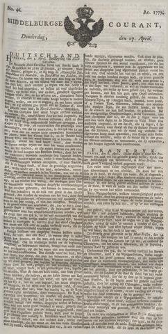 Middelburgsche Courant 1777-04-17