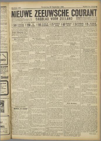Nieuwe Zeeuwsche Courant 1922-09-28