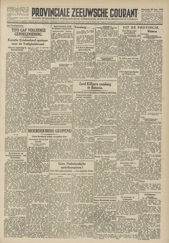 Provinciale Zeeuwse Courant 1946-08-26