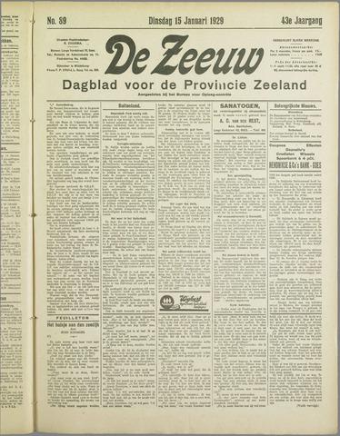 De Zeeuw. Christelijk-historisch nieuwsblad voor Zeeland 1929-01-15