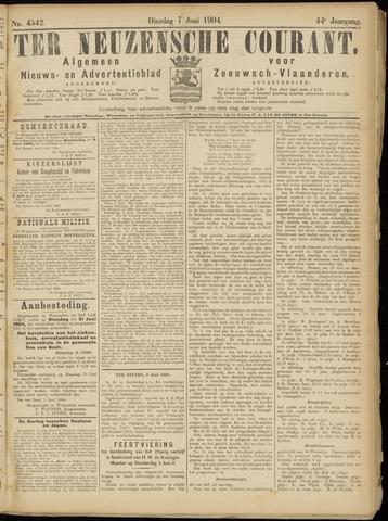 Ter Neuzensche Courant. Algemeen Nieuws- en Advertentieblad voor Zeeuwsch-Vlaanderen / Neuzensche Courant ... (idem) / (Algemeen) nieuws en advertentieblad voor Zeeuwsch-Vlaanderen 1904-06-07
