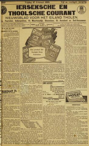 Ierseksche en Thoolsche Courant 1928-02-17