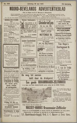 Noord-Bevelands Nieuws- en advertentieblad 1926-06-26