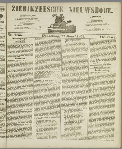 Zierikzeesche Nieuwsbode 1855-03-22