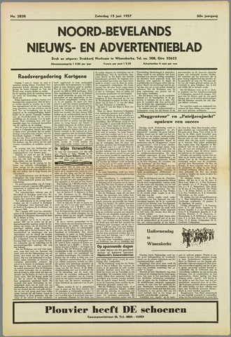 Noord-Bevelands Nieuws- en advertentieblad 1957-06-15