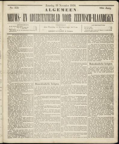 Ter Neuzensche Courant. Algemeen Nieuws- en Advertentieblad voor Zeeuwsch-Vlaanderen / Neuzensche Courant ... (idem) / (Algemeen) nieuws en advertentieblad voor Zeeuwsch-Vlaanderen 1870-11-19