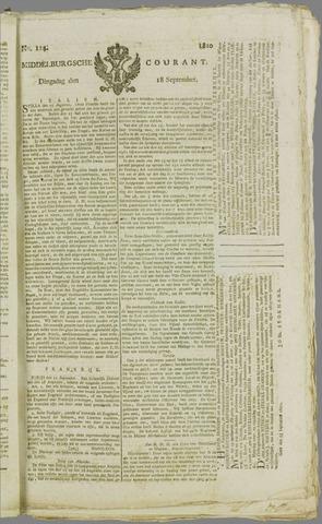 Middelburgsche Courant 1810-09-18