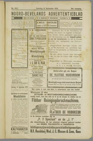 Noord-Bevelands Nieuws- en advertentieblad 1929-09-14