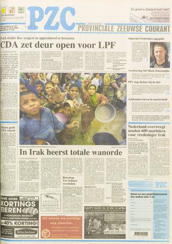Provinciale Zeeuwse Courant 2003-04-12