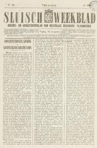 Sluisch Weekblad. Nieuws- en advertentieblad voor Westelijk Zeeuwsch-Vlaanderen 1864-08-12