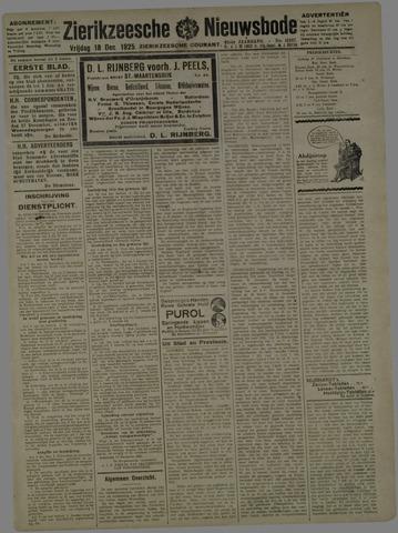 Zierikzeesche Nieuwsbode 1925-12-18
