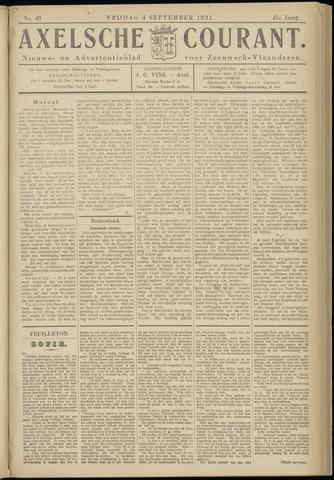 Axelsche Courant 1931-09-04