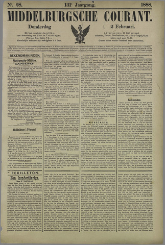 Middelburgsche Courant 1888-02-02