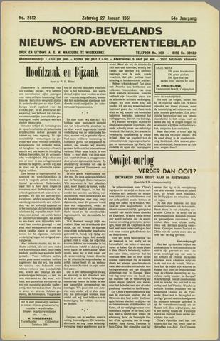 Noord-Bevelands Nieuws- en advertentieblad 1951-01-27