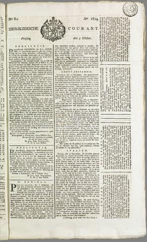 Zierikzeesche Courant 1814-10-07