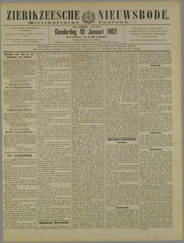 Zierikzeesche Nieuwsbode 1907-01-10