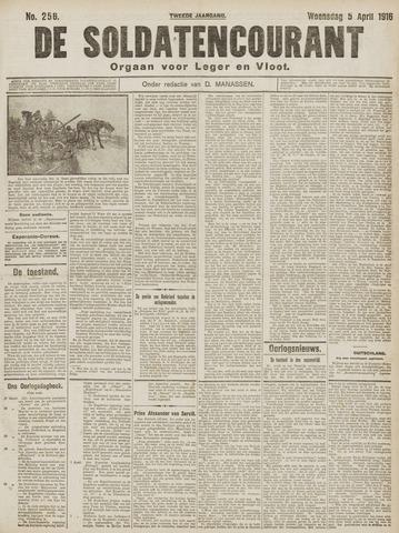 De Soldatencourant. Orgaan voor Leger en Vloot 1916-04-05