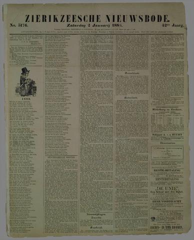 Zierikzeesche Nieuwsbode 1886