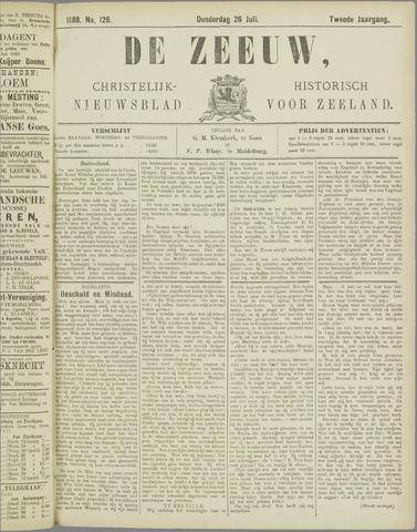 De Zeeuw. Christelijk-historisch nieuwsblad voor Zeeland 1888-07-26