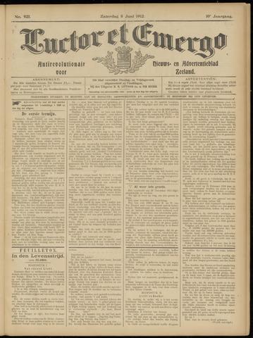 Luctor et Emergo. Antirevolutionair nieuws- en advertentieblad voor Zeeland / Zeeuwsch-Vlaanderen. Orgaan ter verspreiding van de christelijke beginselen in Zeeuwsch-Vlaanderen 1912-06-08