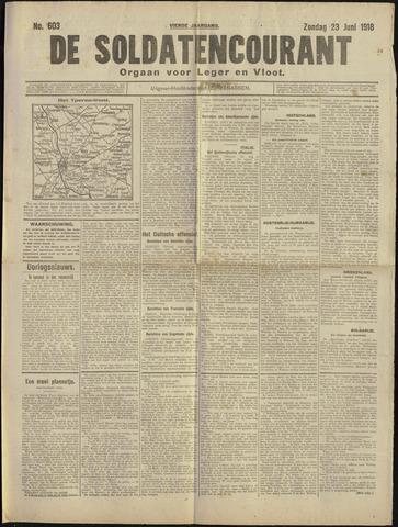 De Soldatencourant. Orgaan voor Leger en Vloot 1918