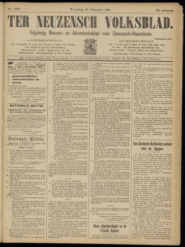 Ter Neuzensch Volksblad. Vrijzinnig nieuws- en advertentieblad voor Zeeuwsch- Vlaanderen / Zeeuwsch Nieuwsblad. Nieuws- en advertentieblad voor Zeeland 1911-12-20